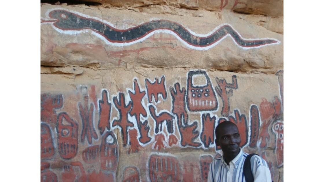 Peintures rupestres à Songho