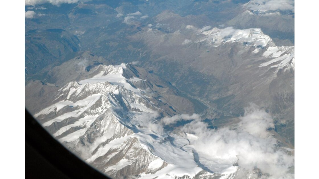 Survol des Alpes Françaises.