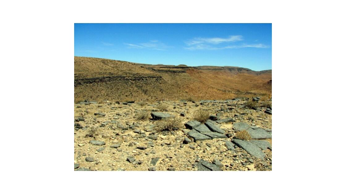 Namibie plateau érodé