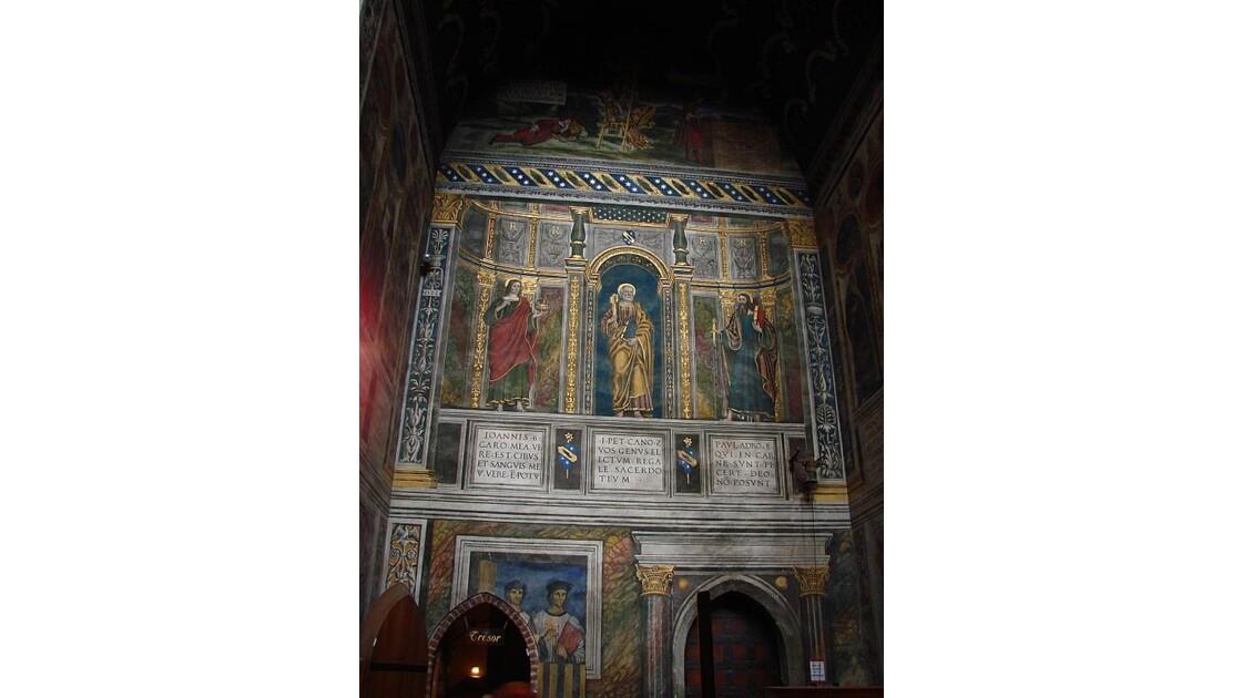 Ste Cécile -une des fresques