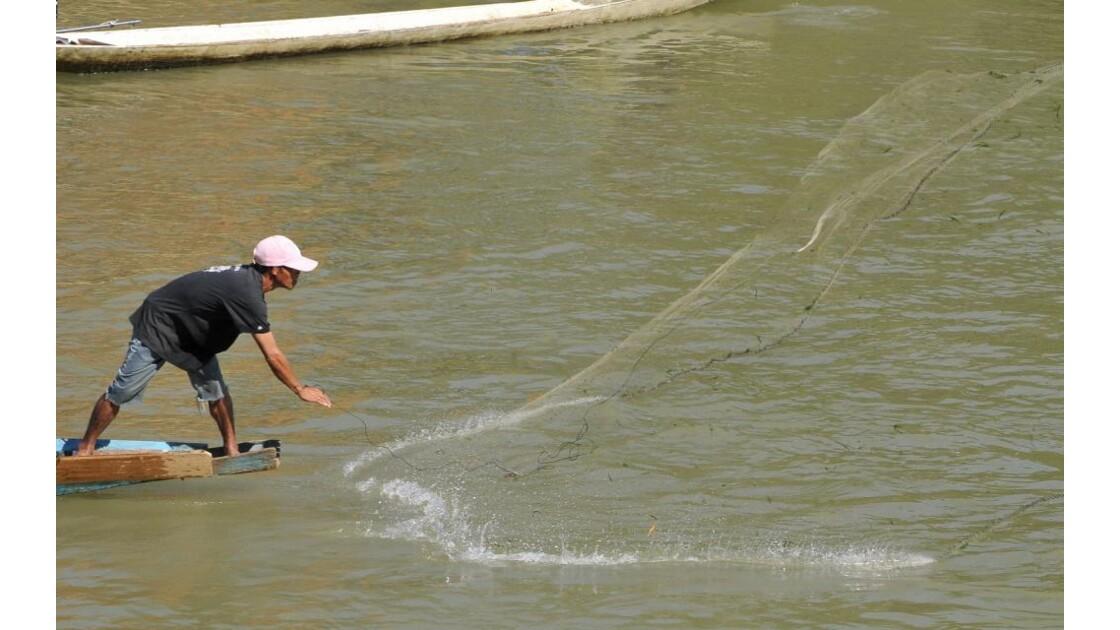 Vang Vieng, pêcheur