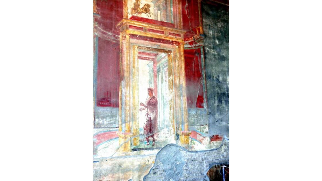 Fresque murale à Pompéi