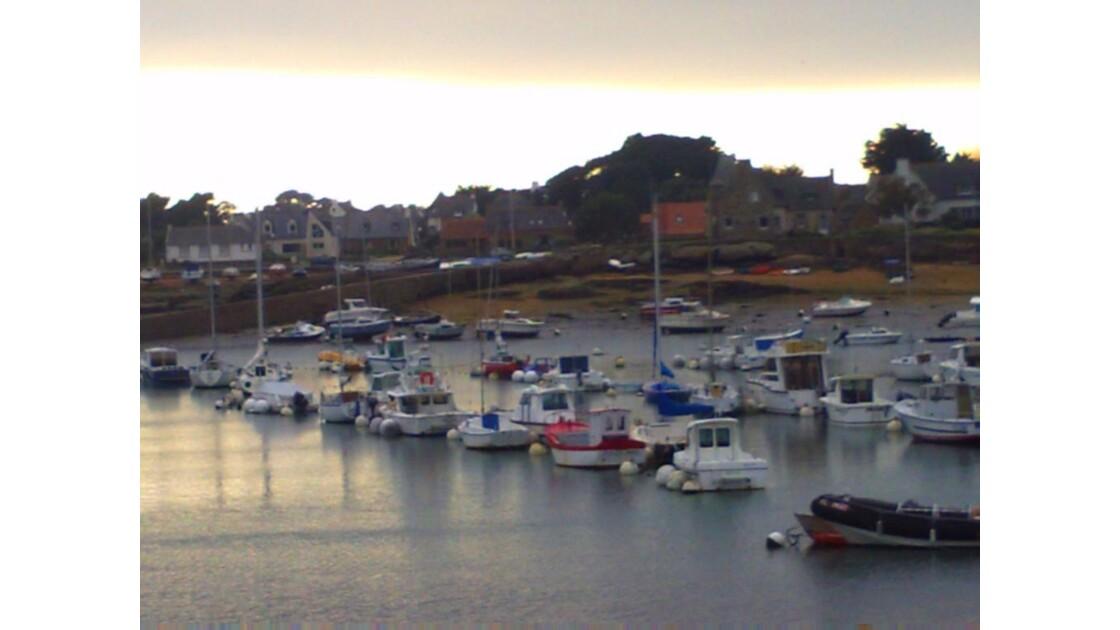 Ploumanac´h barques et coucher de soleil