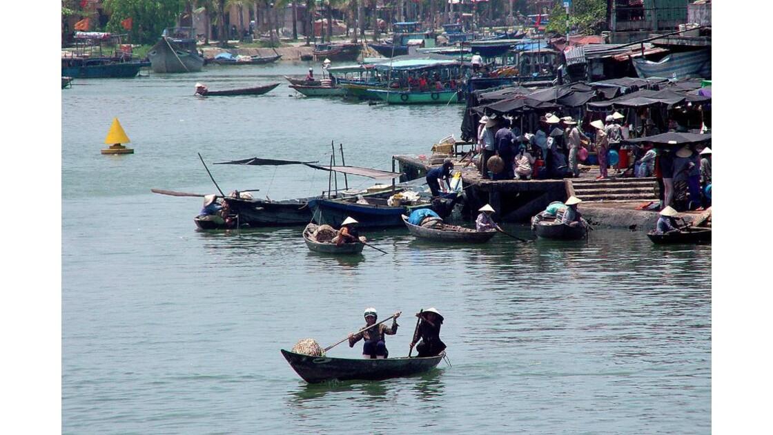 Hoi An port sur la rivière Thu Bon