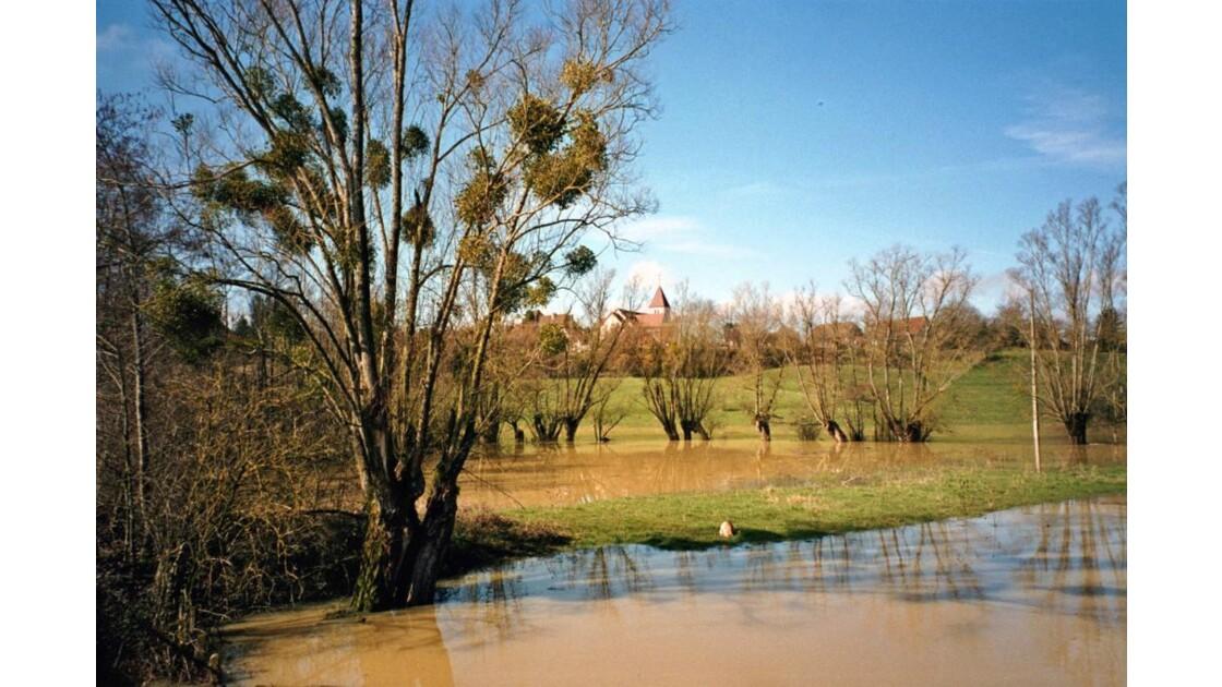 village inondé