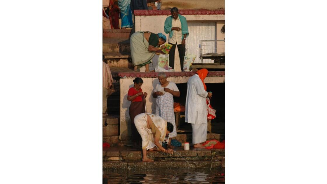 Benares - Ghats au petit matin (detail)