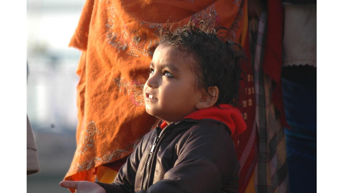 Benares - Petite fille au khol