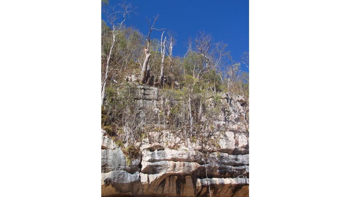 haut de la falaise Manambolo