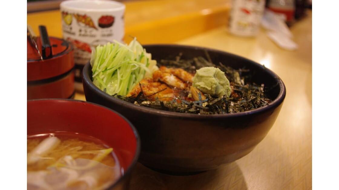 anguille et soupe miso