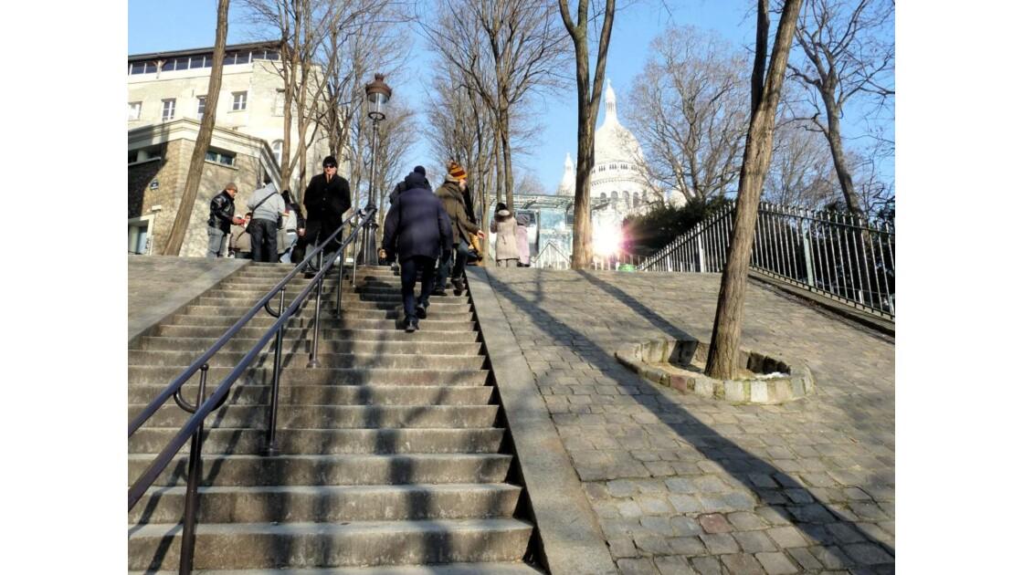 Les escaliers de la butte...