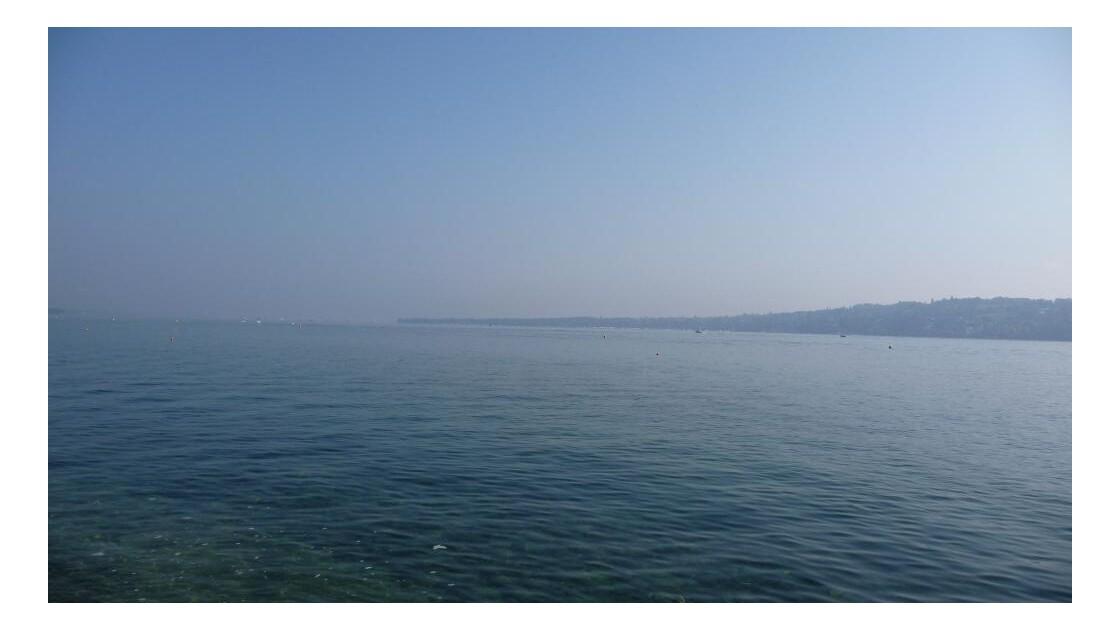lac Léman vue depuis la rade de Genève