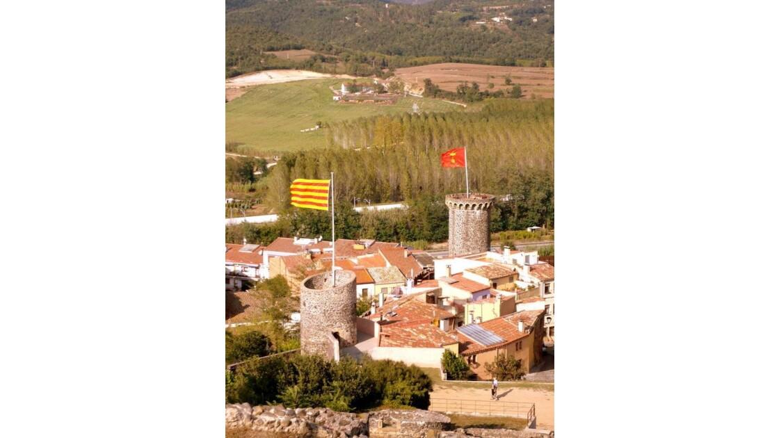 village vu du château.
