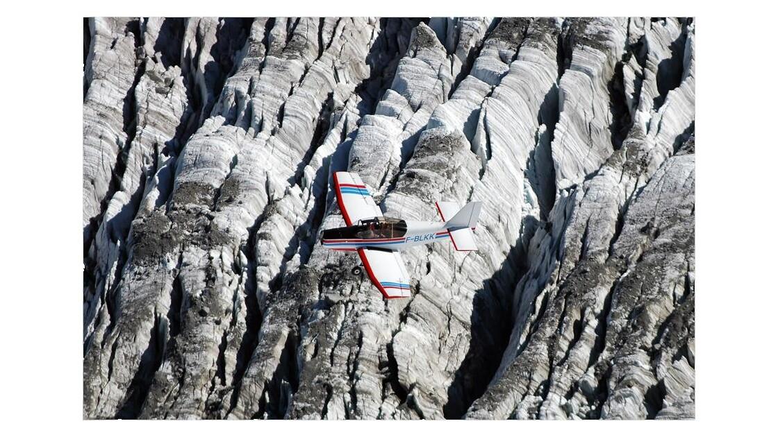 Jodel D 140 R - glacier d'Argentière -