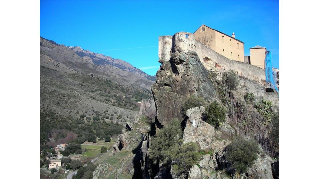 Vertigineuse citadelle de Corte