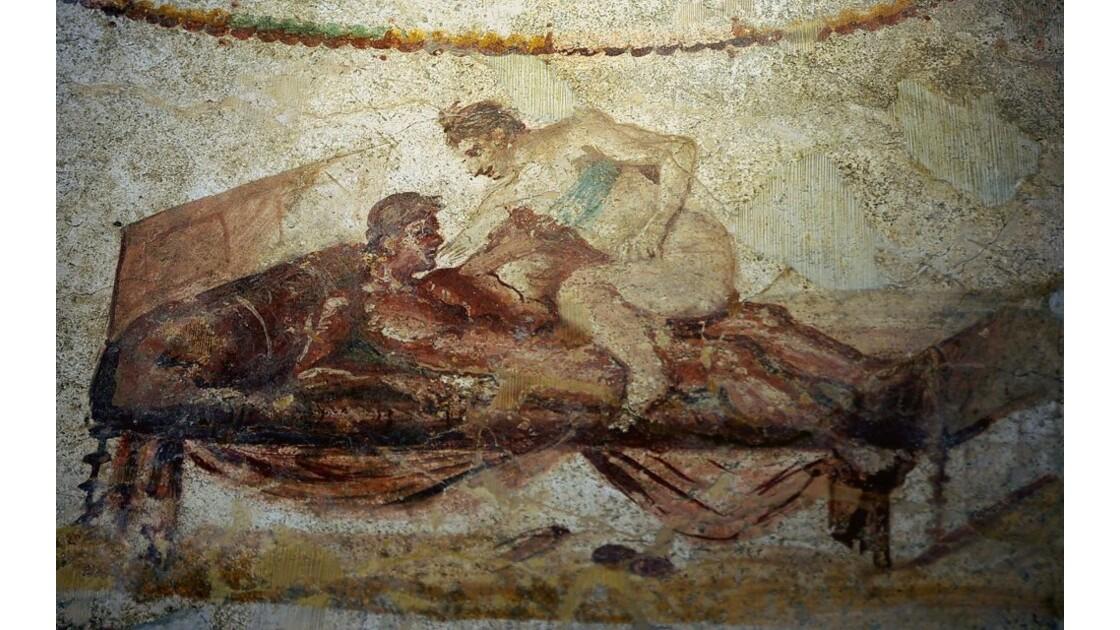 Pompei Peinture Murale De Lupanare Sans Commentaires