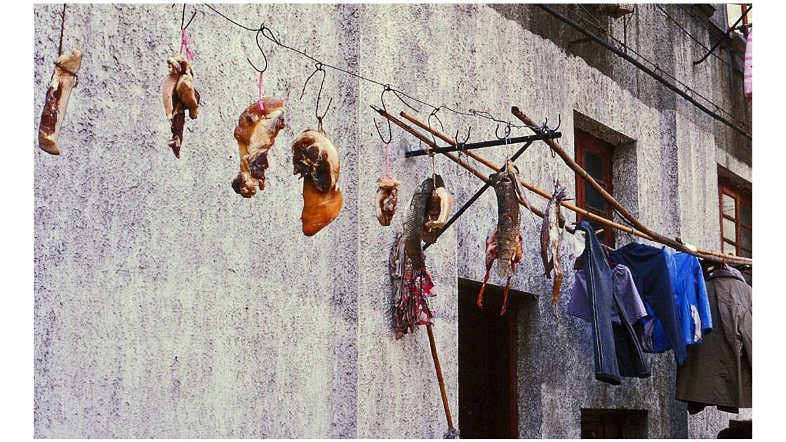 Séchage de la viande