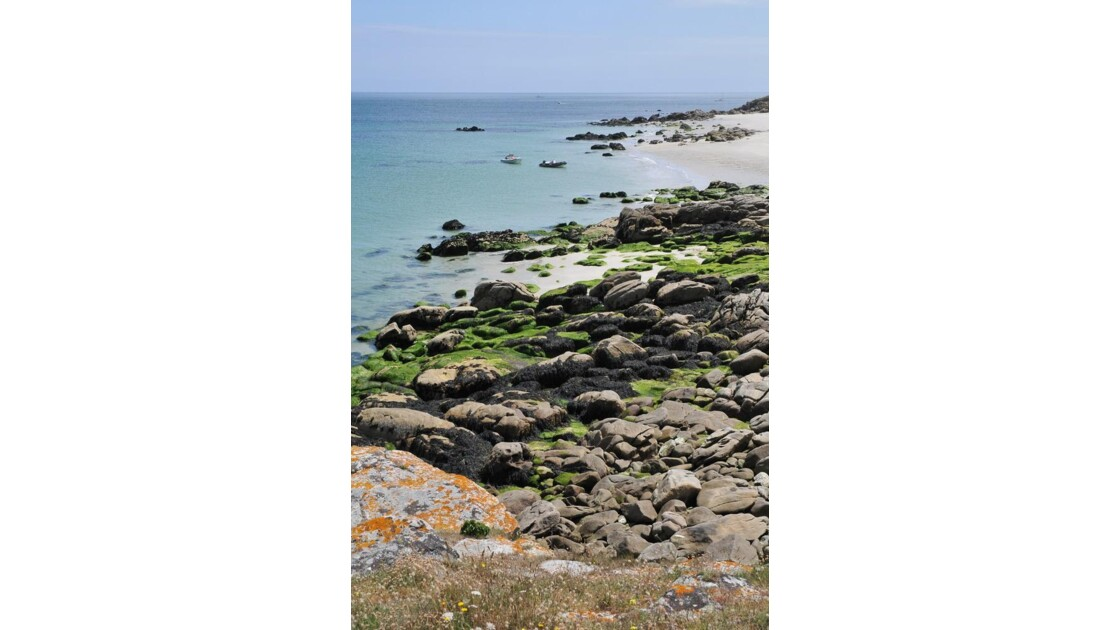 Hoëdic, plage sous le phare