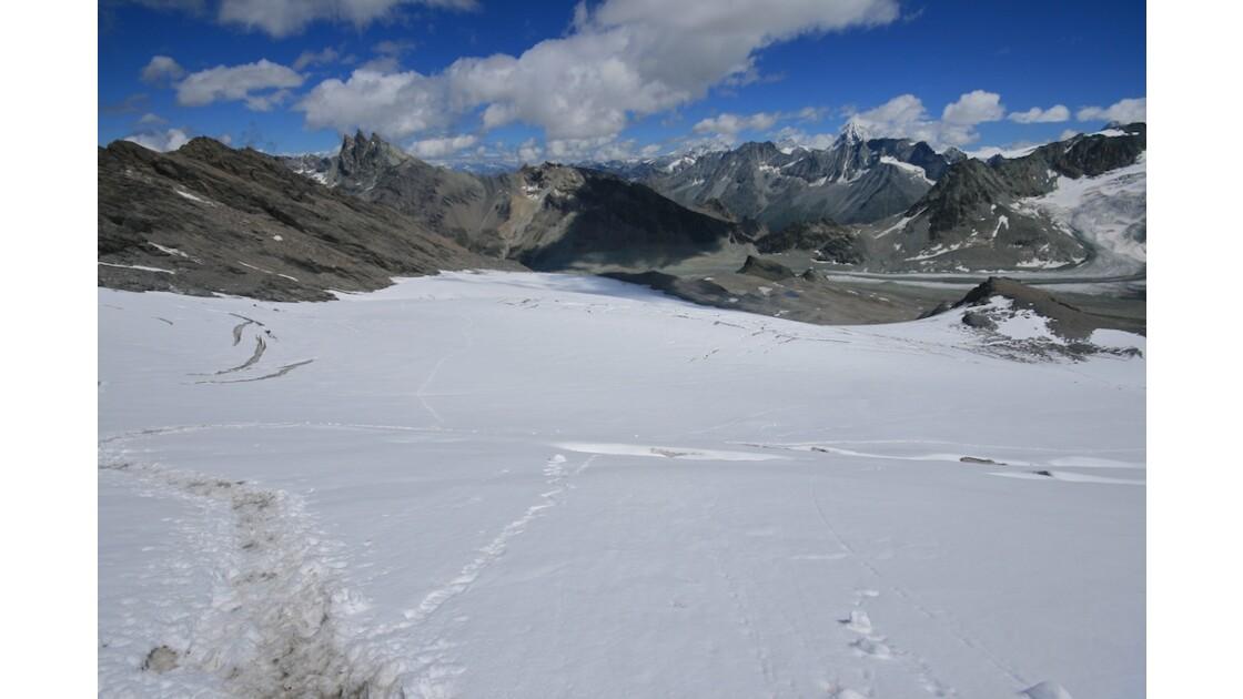 Vue depuis le glacier de la Luette