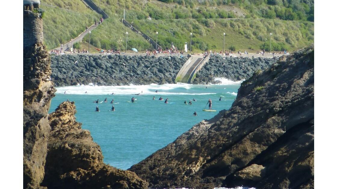 Plage Côte des Basques (marée haute)