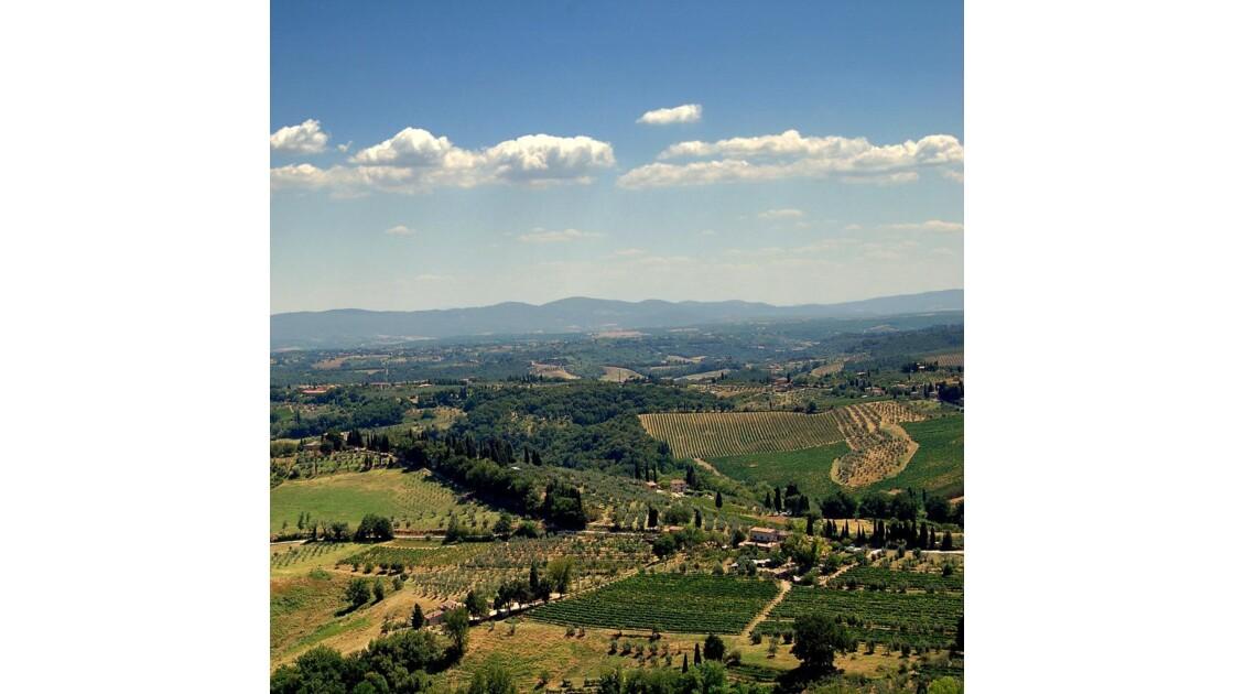 Paysage à San Gimigniano