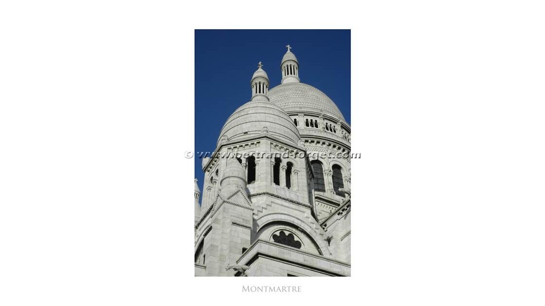 La Basilique du Sacré Coeur à Montmartr