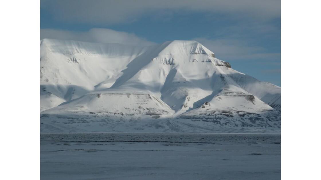 Fjord gelé Longyearbyen