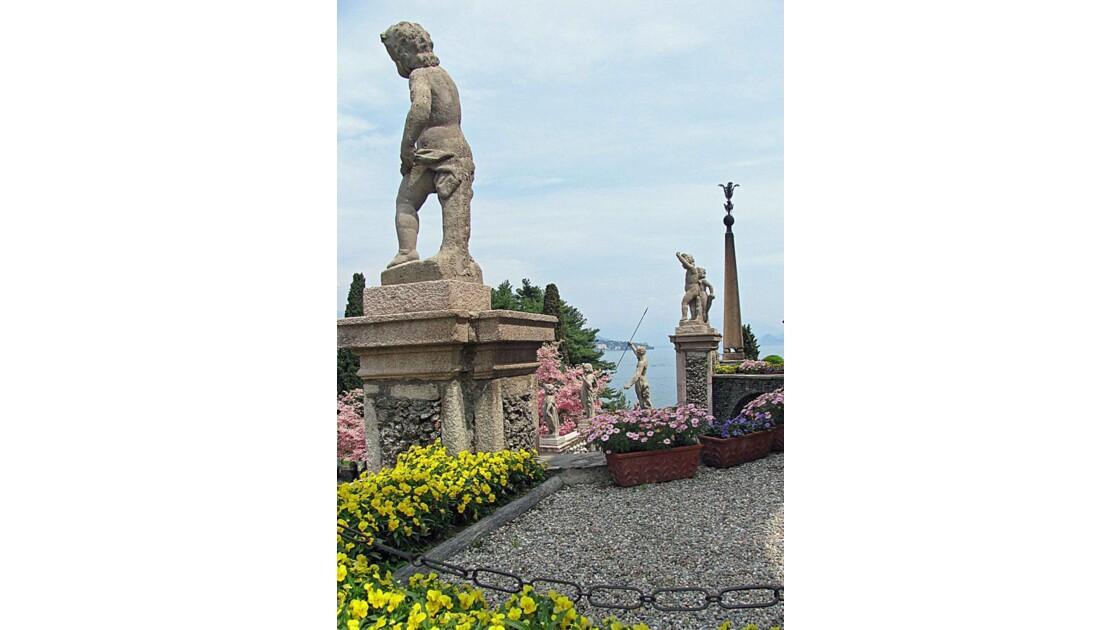 Détail de statue sur Isola Bella