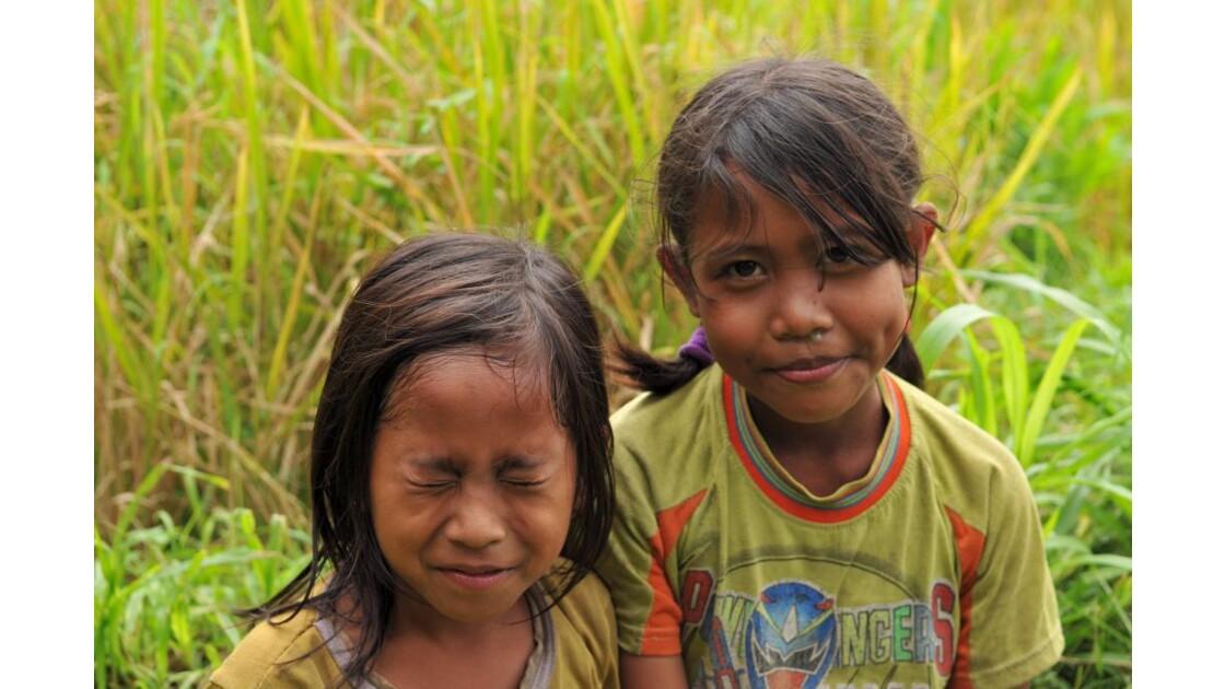 Grimace et sourire Riziere Bali