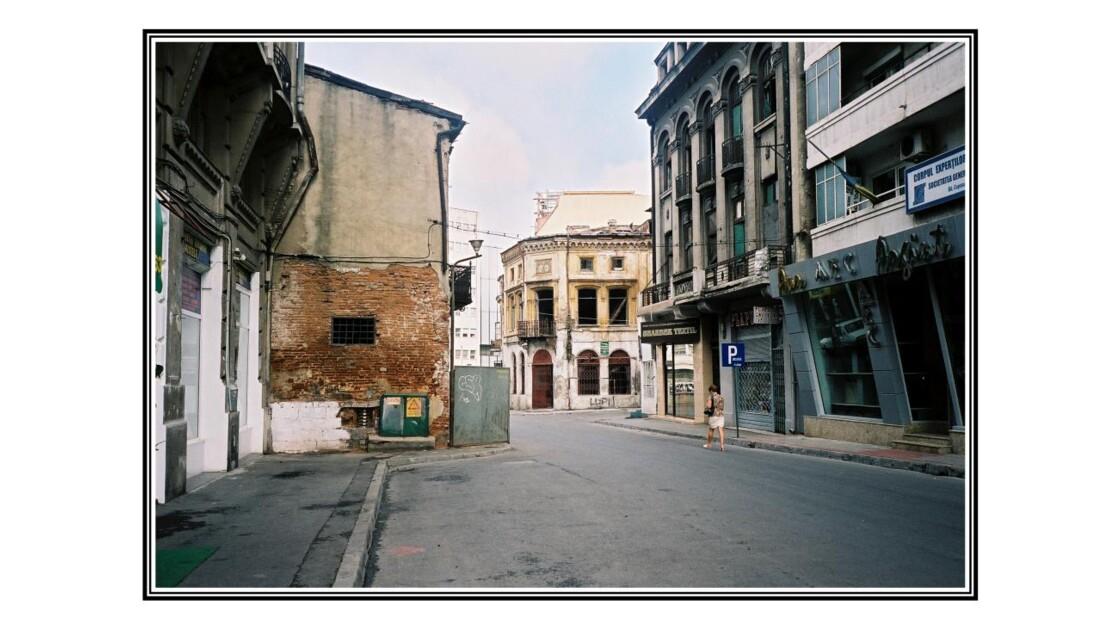 Une rue de Bucarest