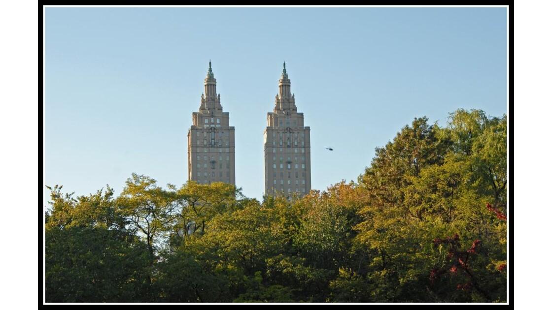 Central park NYC en levant  les yeux!