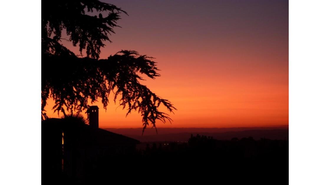 coucher de soleil du midi