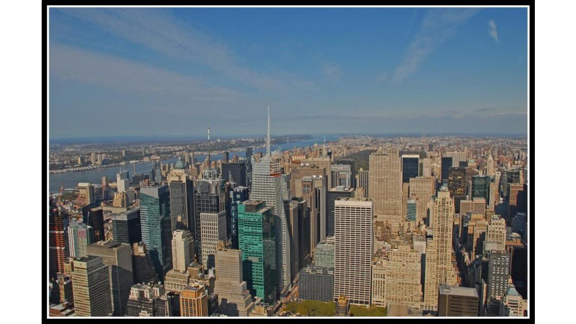 En haut de l'Empire State Building