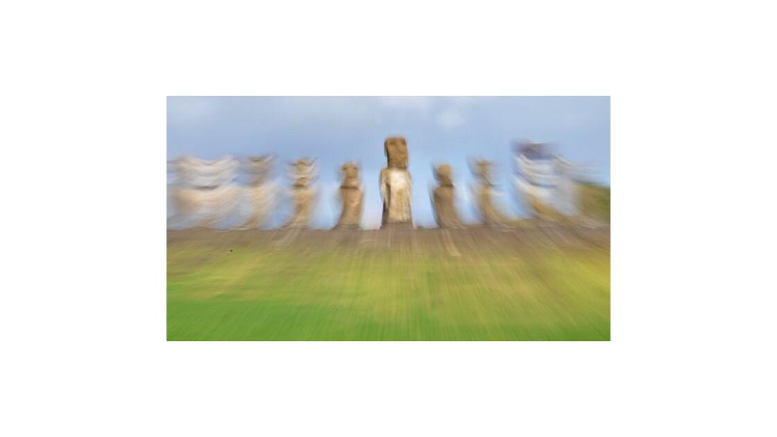 ile de Pâques - Moai font la fête