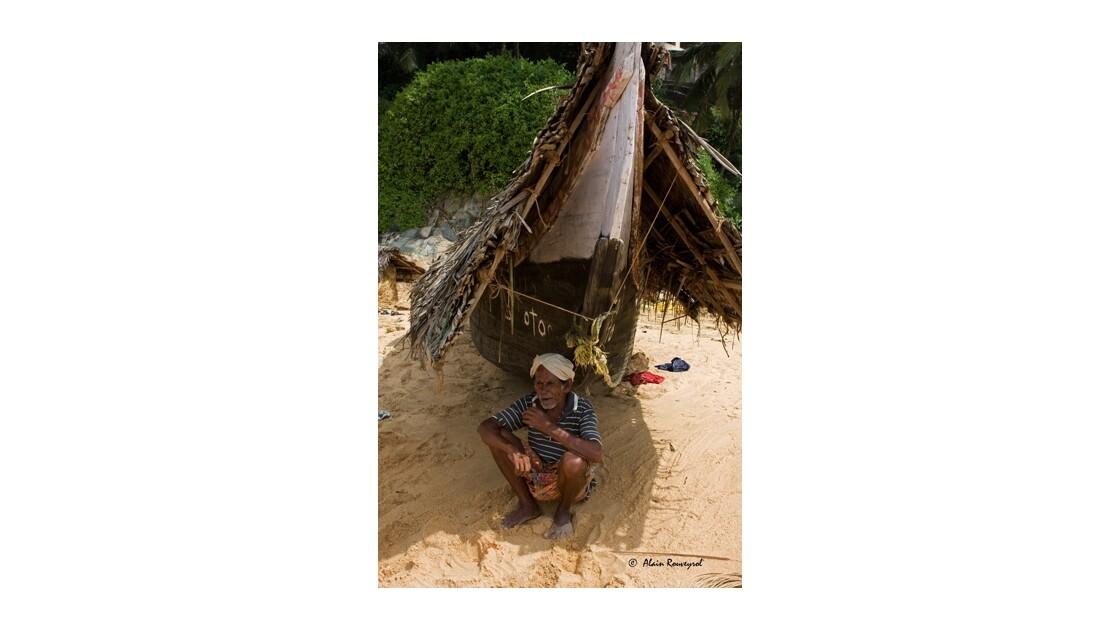 Vieux pêcheur au repos