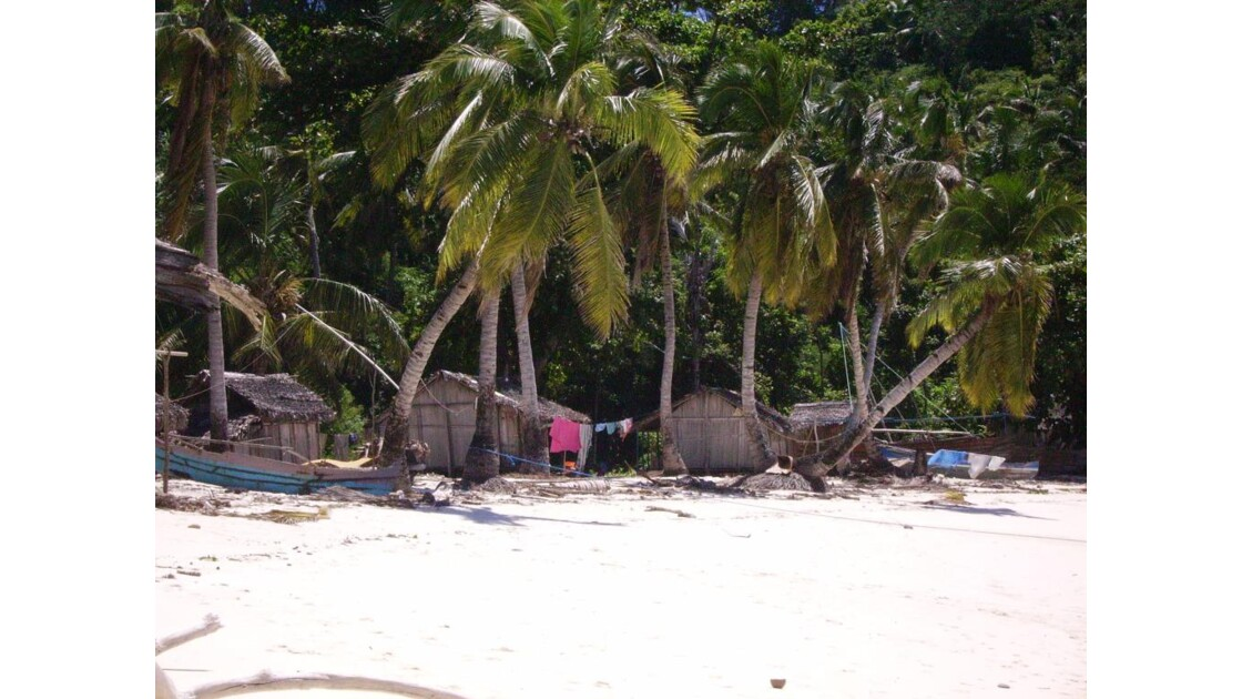Sous les cocotiers...les cases