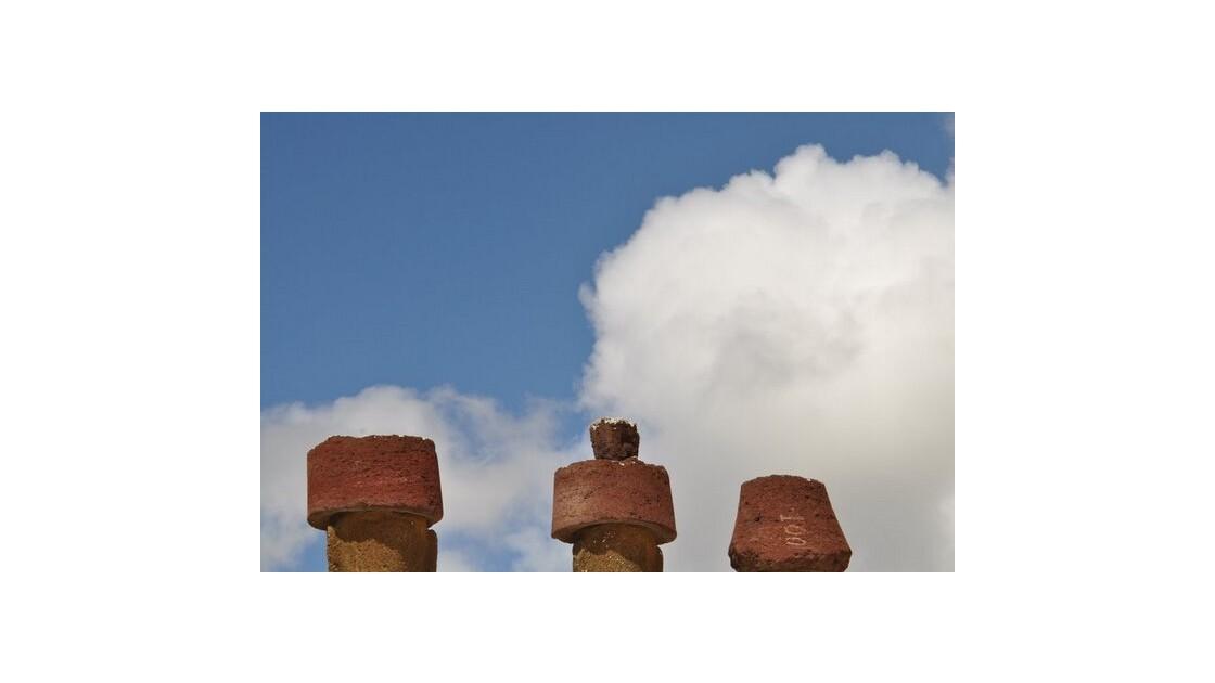 Moai et leur chignon
