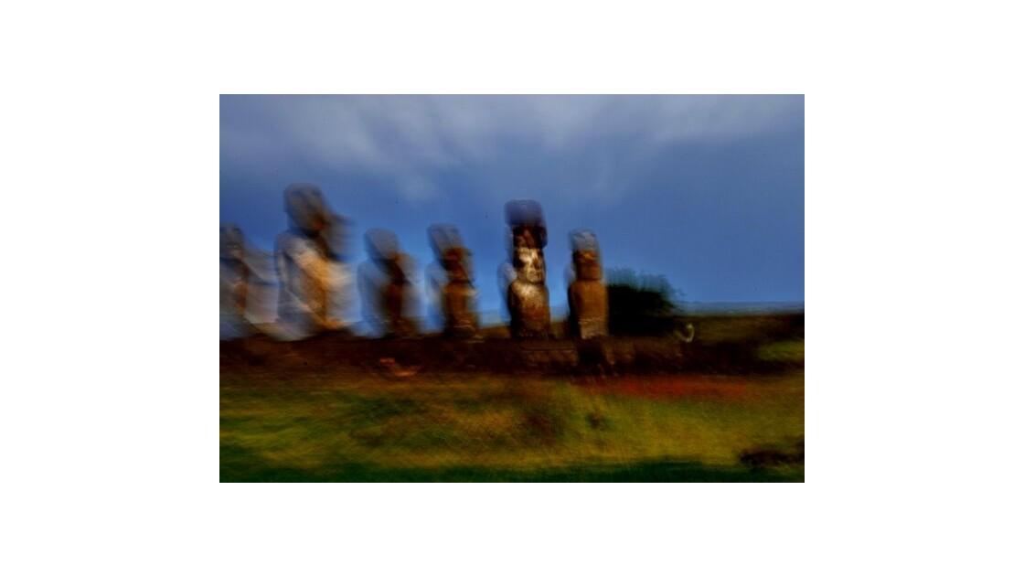 les moai quittent leur corps rocheux