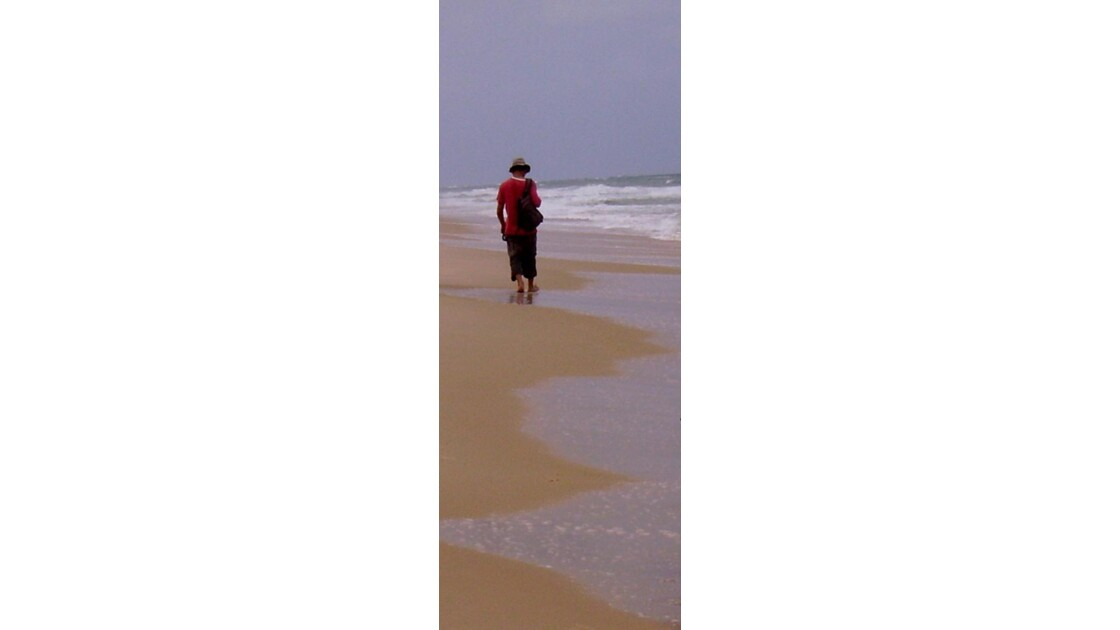 Sur la plage de Lompoul