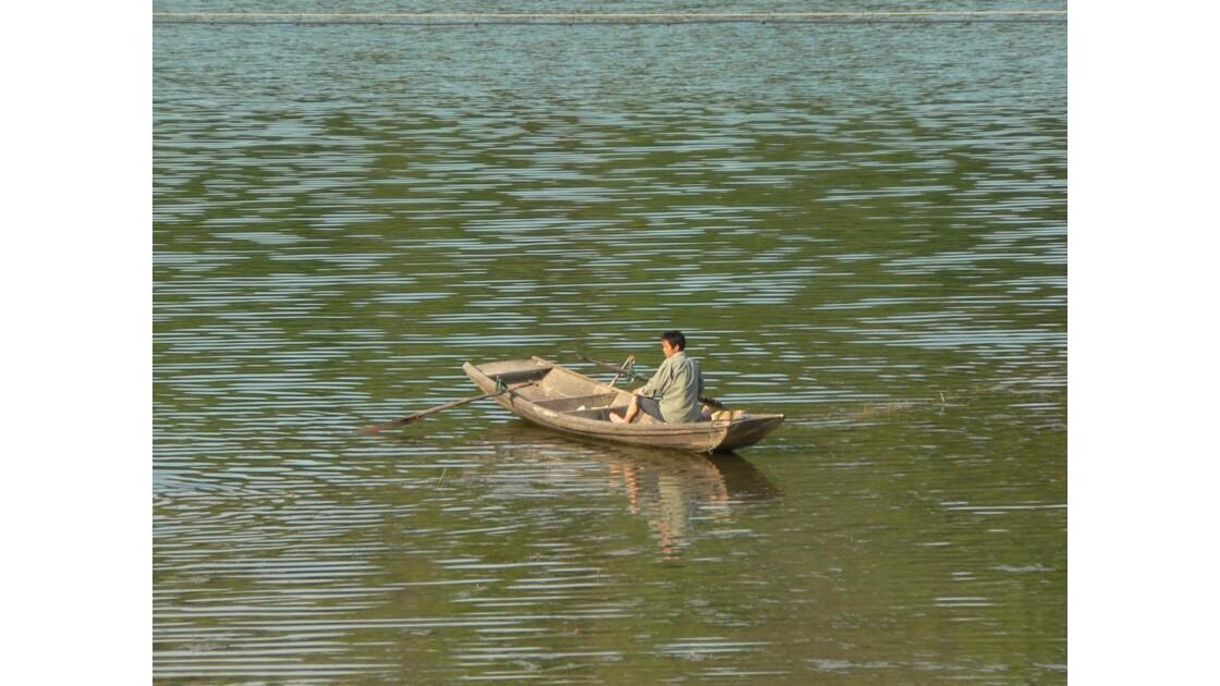Pêcheur - Lac Taiping - Chine