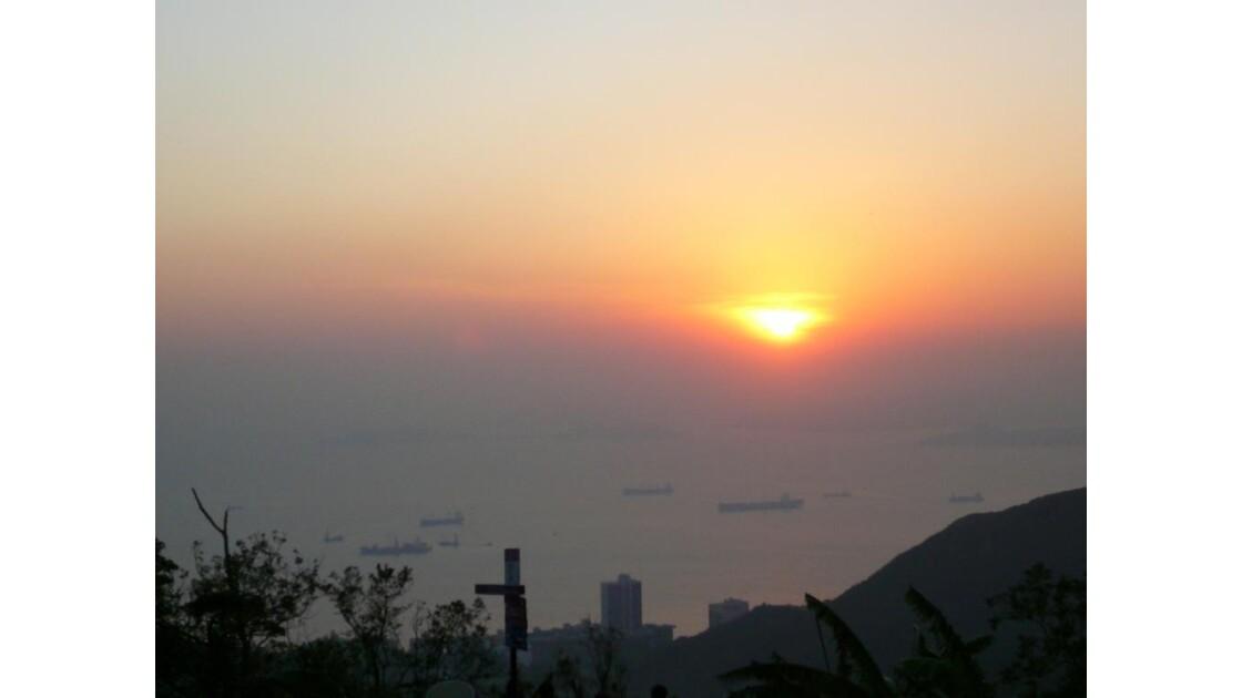 coucher de soleil à Victoria Pic
