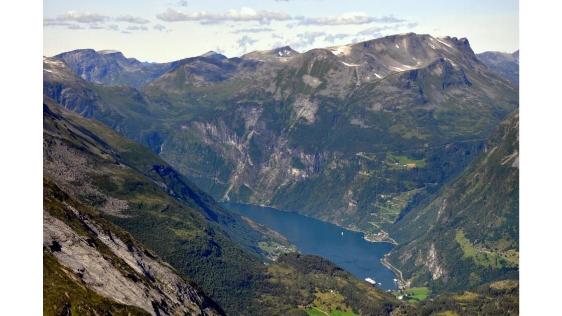 Geiranger fjord de Dalsnibba