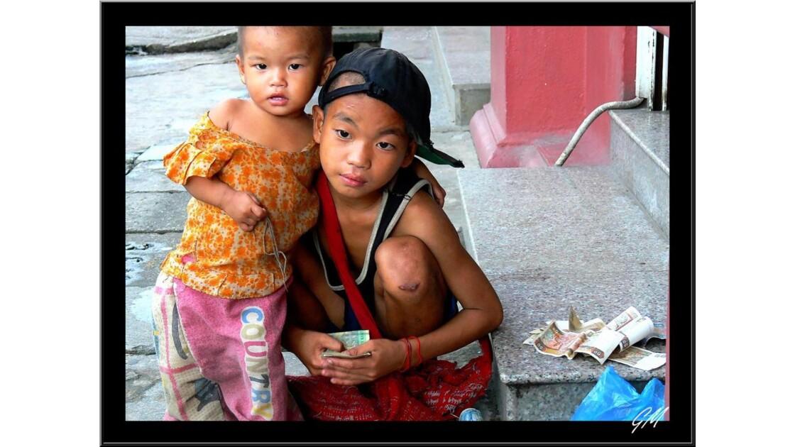 Enfants de la rue.
