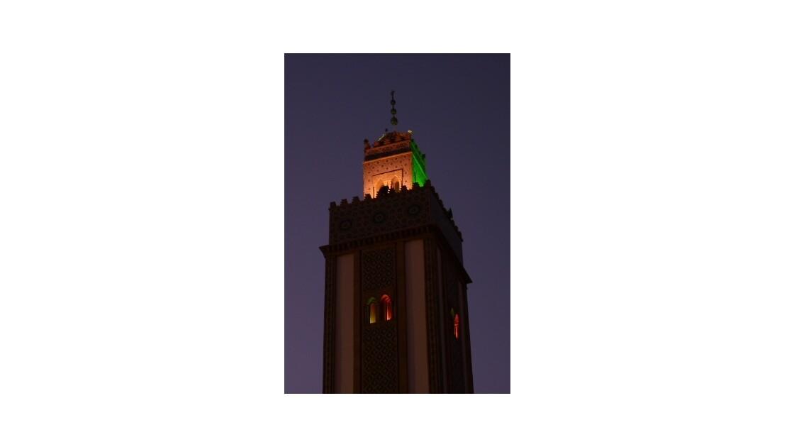 Minaret mosquée Loubnane, de nuit