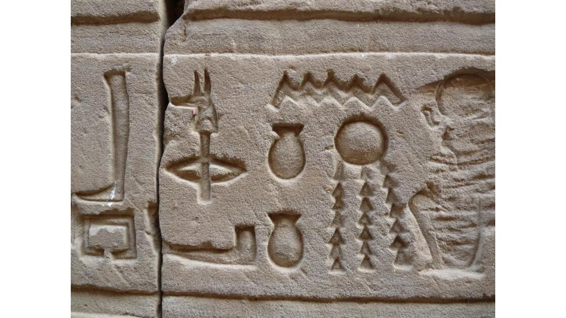 Egypte/Edfou/Hiéroglyphes