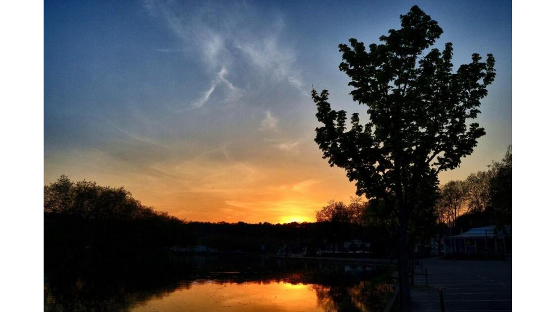 soleil couchant sur le legué, lannion