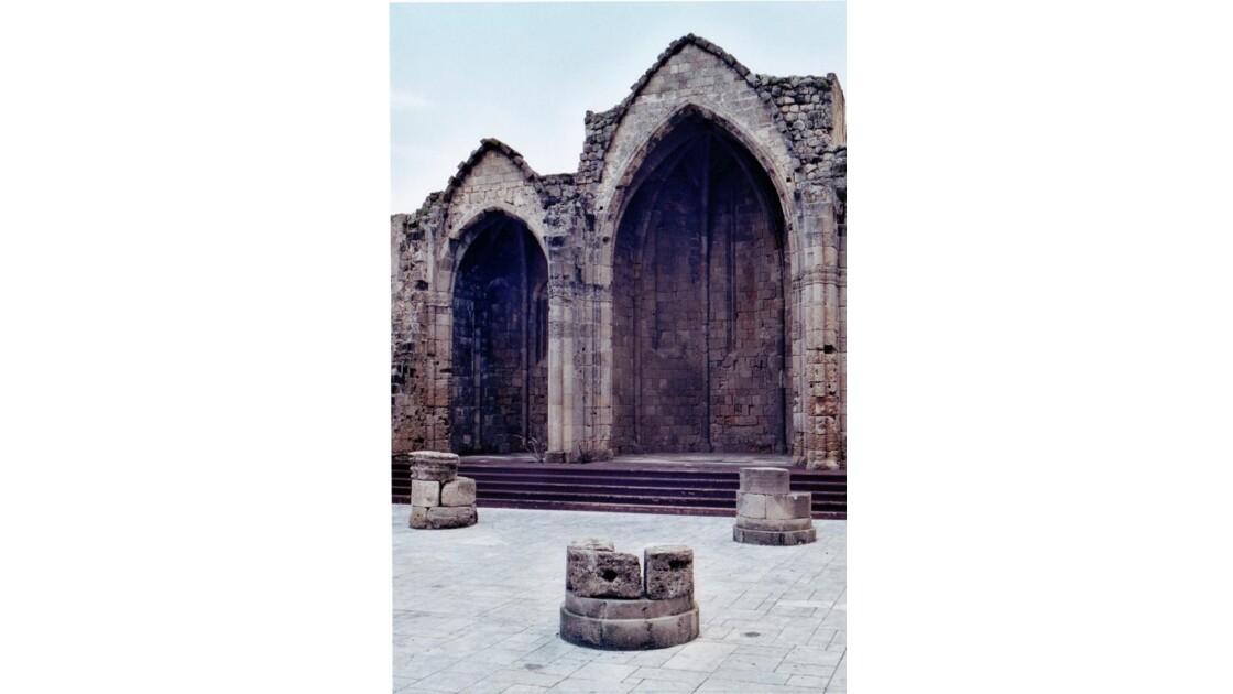 ruines de l'église ste marie