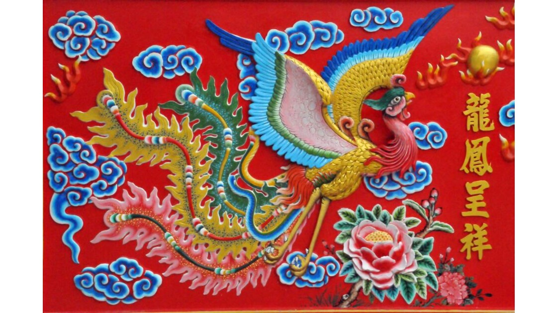 Fresque temple chinois