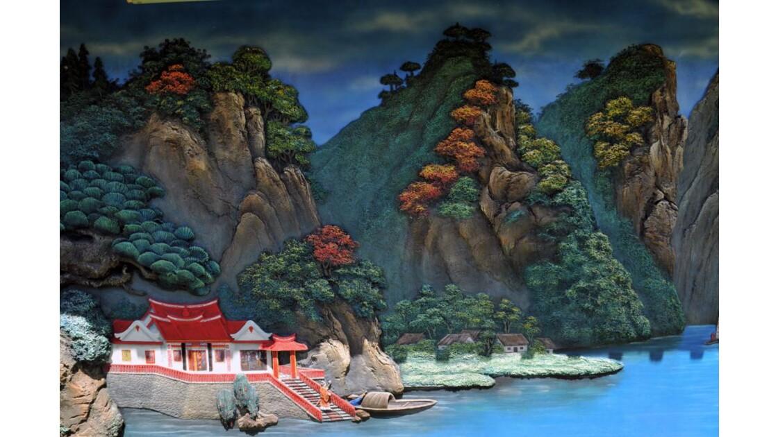 Fresque temple chinois de Gilimunuk