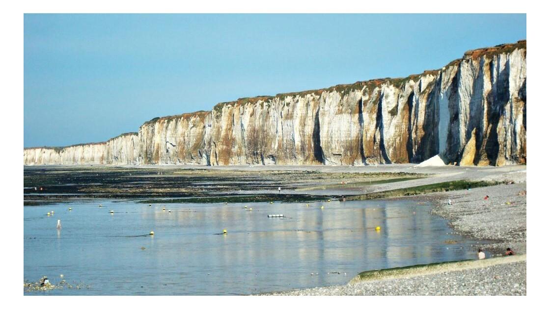 saint valery en caux : les falaises