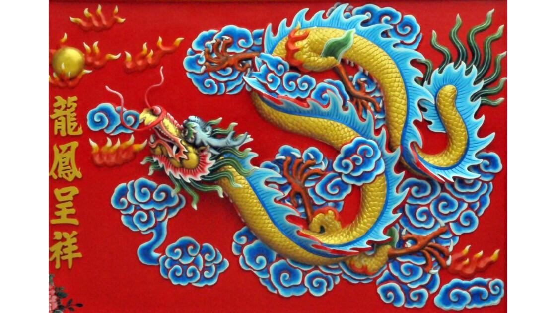 Fresque temple chinois Thailande